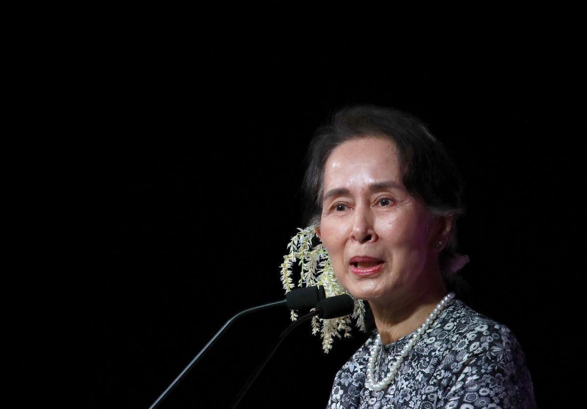 Aung San Suu Kyi lleva encarcelada desde el golpe de Estado.