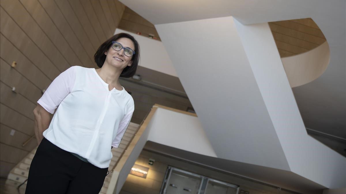 Nuria Enguita fue presentada este jueves como nueva directora del Instituto Valenciano de Arte Moderno
