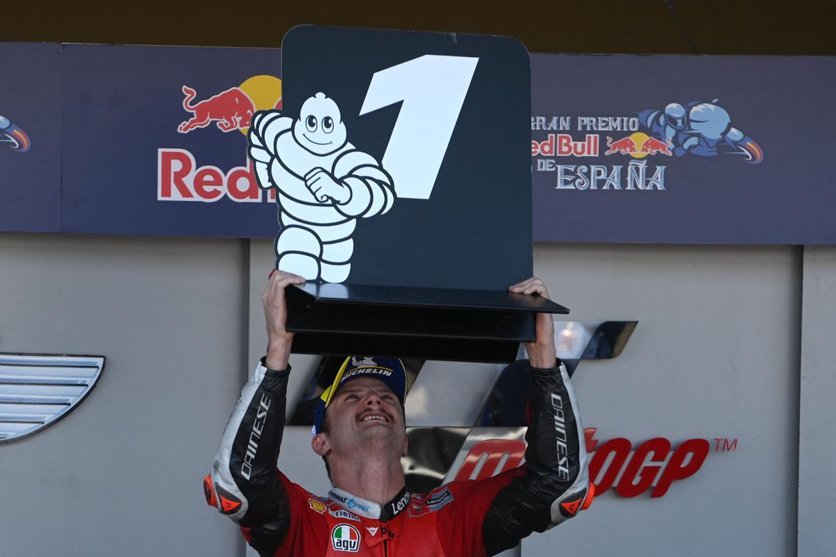 Jack Miller (Ducati) gana el GP de España en el circuito de Jerez.