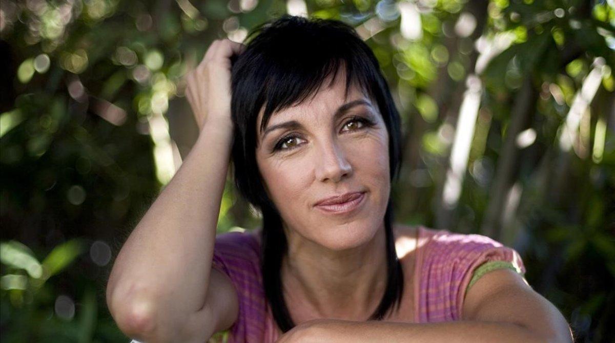 La cantante Ana Torroja posa en el Hotel Princesa Sofía de Barcelona, el 26 de julio del 2006.