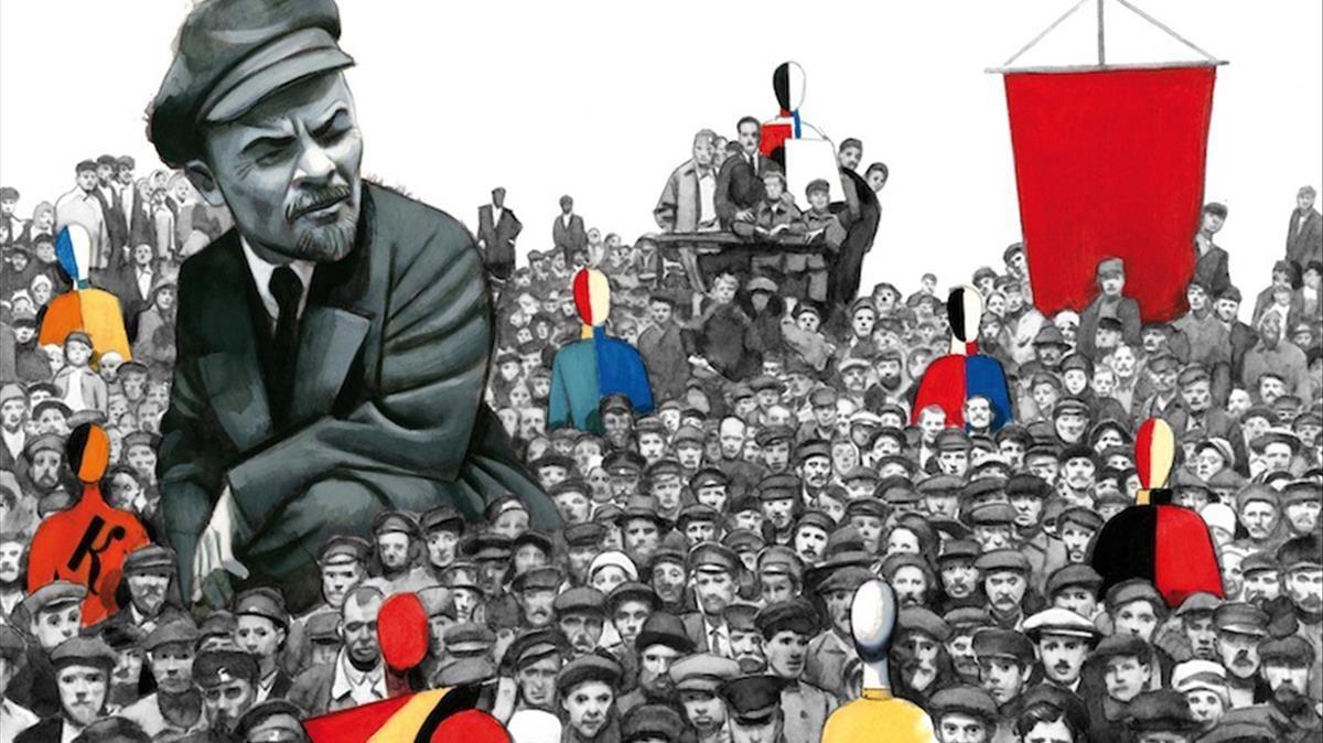 Ilustración de Fernando Vicente para 'Diez días que sacudieron el mundo', la crónica de John Reed sobre la revolución rusa.