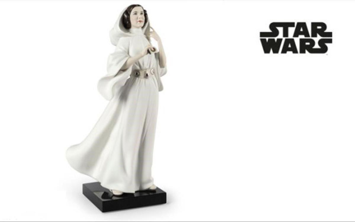 Figura de la princesa Leia, de Lladró.