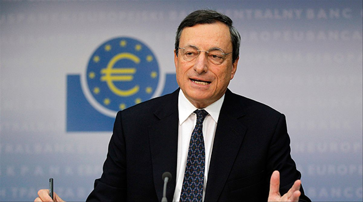 Draghi afirma contundentemente que el euro es irreversible