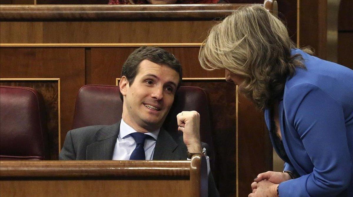 Pablo Casado, el pasado día 13, en el Congreso.