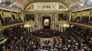 Vista general del Congreso de los Diputados.