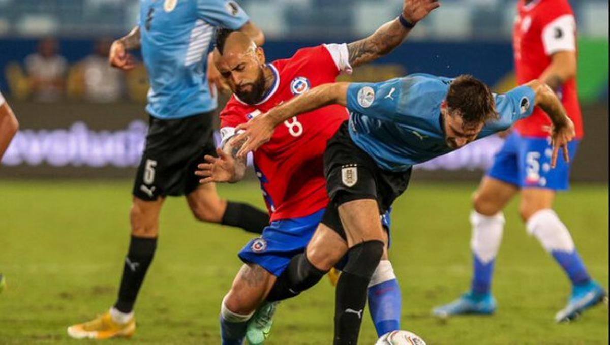 Un instante del Chile-Uruguay.