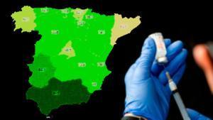 Así se acerca España a su primer objetivo de la campaña: vacunar a los mayores de 80   Mapa