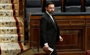 Santiago Abascal, en el Congreso de los Diputados.