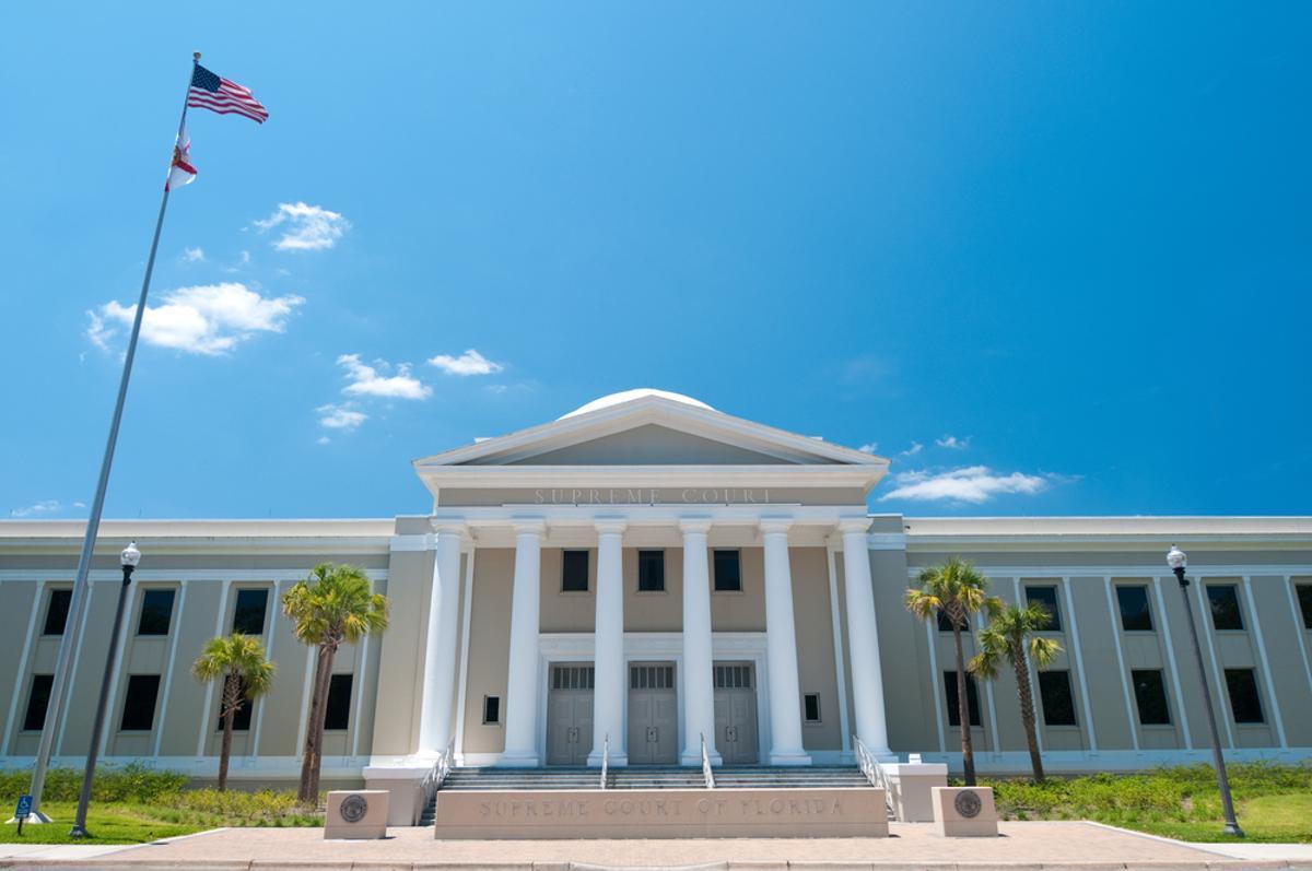 El Tribunal Supremo de Florida, en Tallahassee.