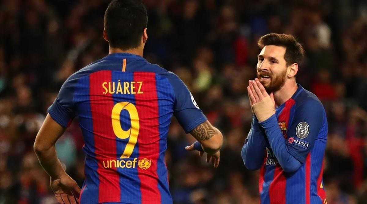 Messi y Suárez, en el partido contra la Juventus en la Champions, retransmisión de TV-3 que ha sido la más vista de abril en Catalunya.