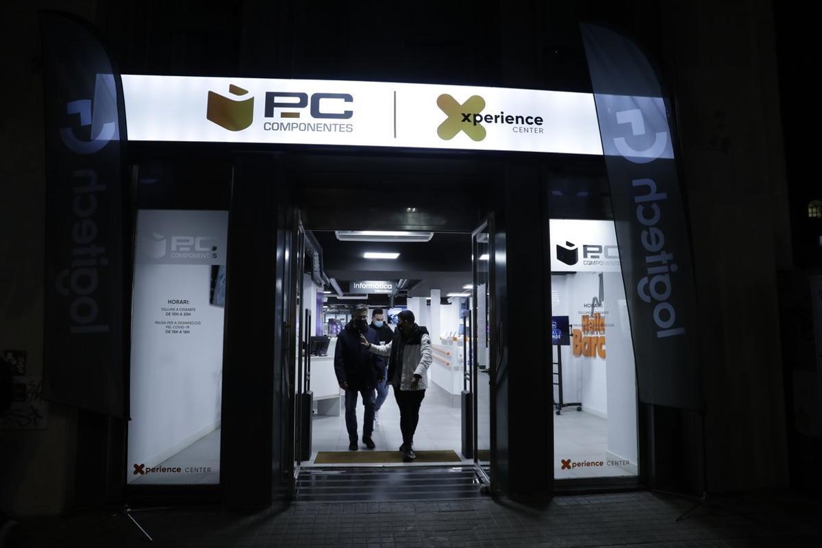 La tienda de PcComponentes de la calle de Fontanella de Barcelona.
