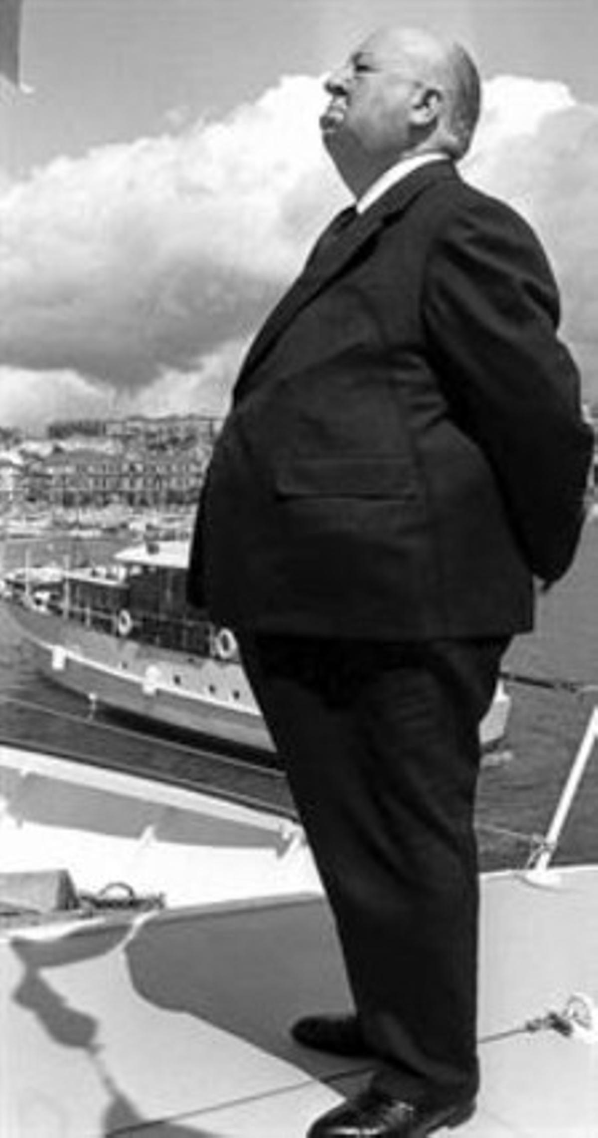 Alfred Hitchcock, en una fotografía fechada en 1972 y localizada en Cannes.