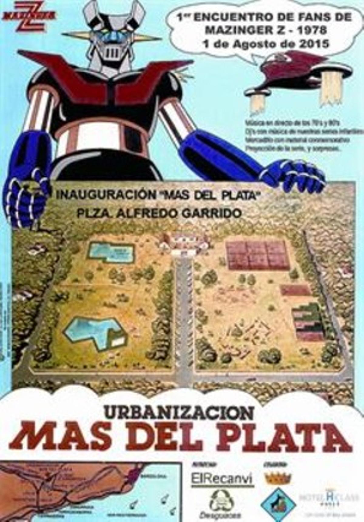 El cartel del encuentro celebrado el 1 de agosto -con un nombre provisional-, y el calendario publicado en 1979 por el promotor de Mas del Plata (abajo).