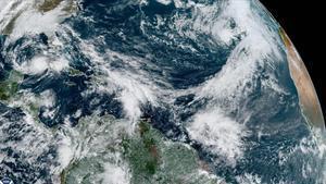 Vista de satélite de la tormenta Eta en Florida.