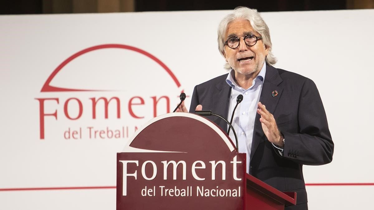 El presidente de Foment, Josep Sánchez Llibre.