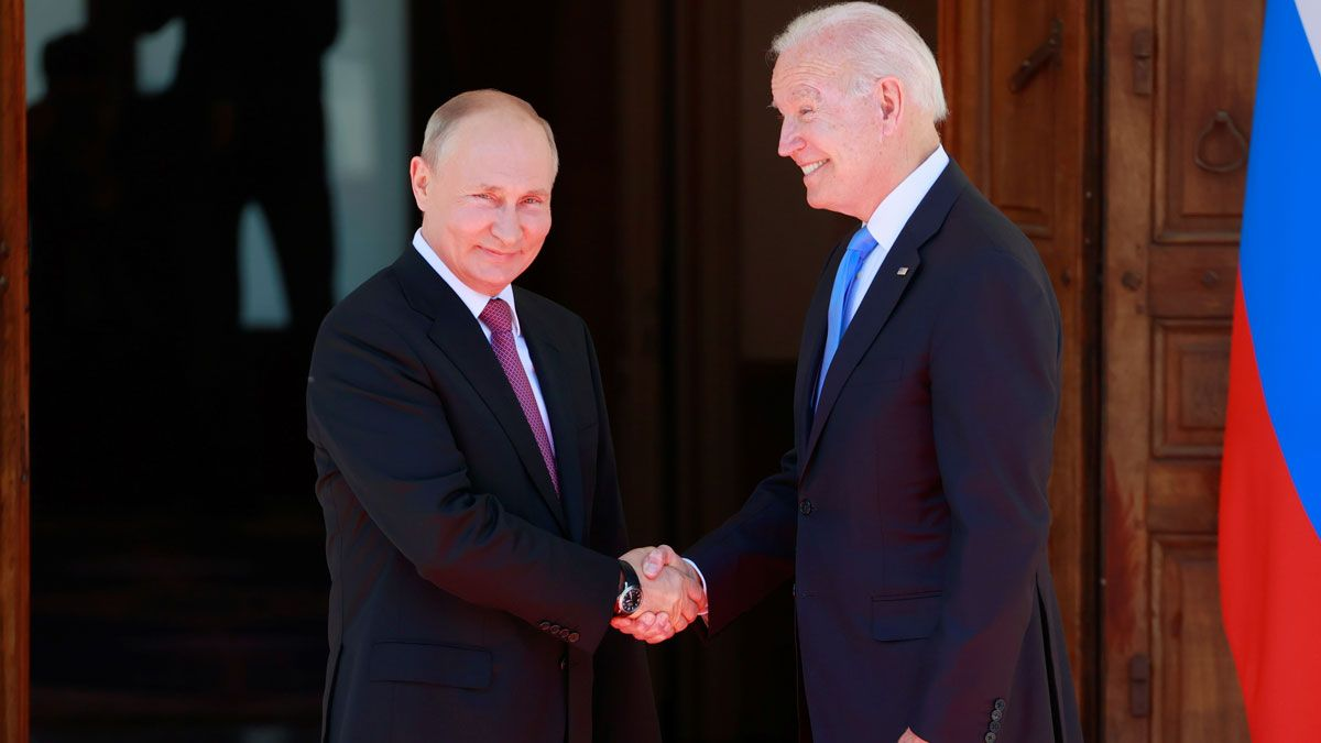 Reunión de Joe Biden y Vladimir Putin en Ginebra.