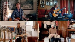 Los Rolling Stones durante el concierto solidario One World: Together at home
