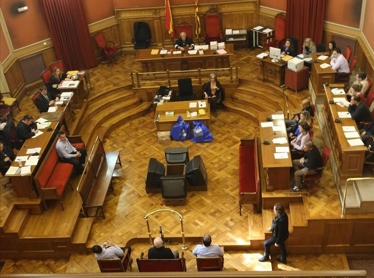 Un juicio en la Audiencia de Barcelona.