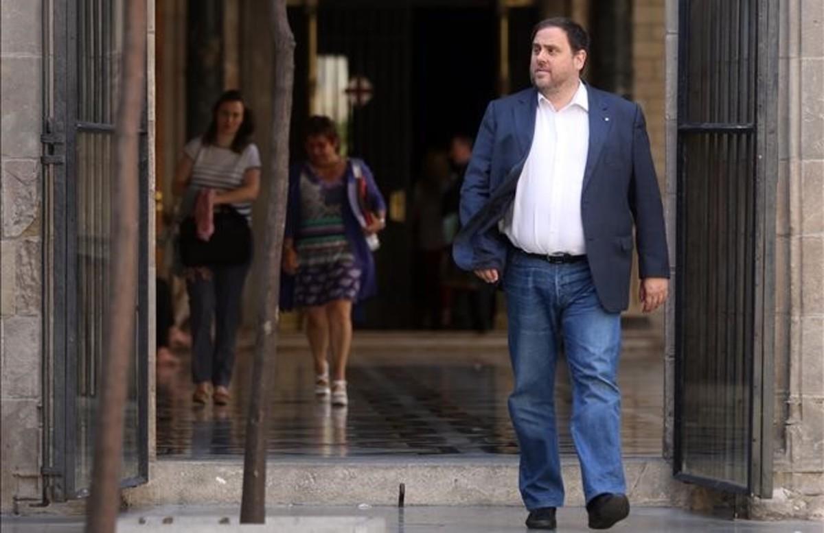 El vicepresidente del Govern, Oriol Junqueras, en el Palau de la Generalitat.