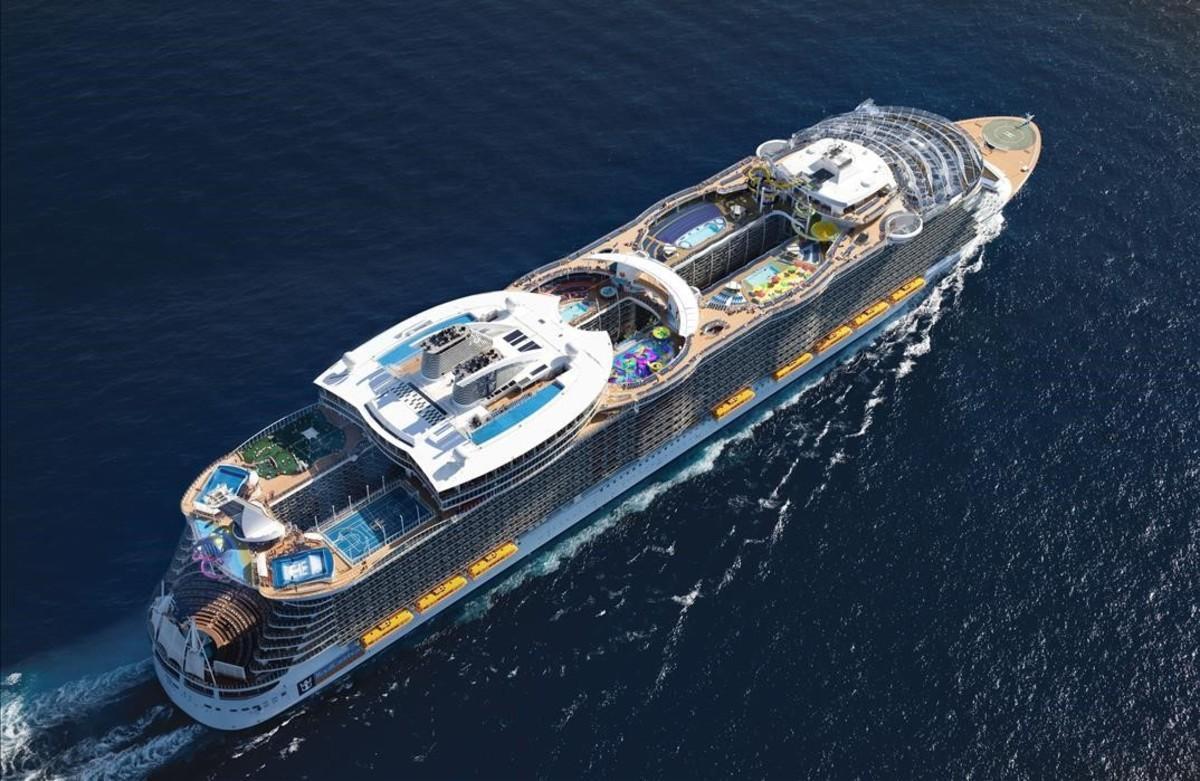Imagen aérea del Harmony of the Seas.