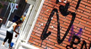 La 'ñ' de ñetas en un muro de l'Hospitalet de Llobregat.