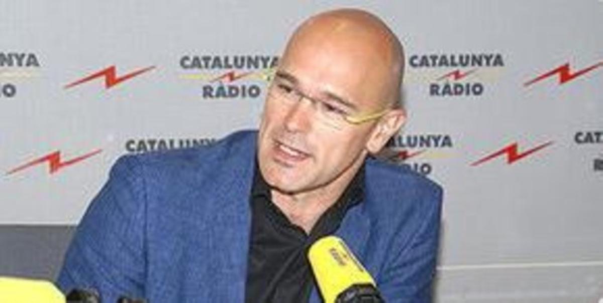 Raül Romeva, eurodiputado de ICV, en una entrevistaen Catalunya Ràdio.
