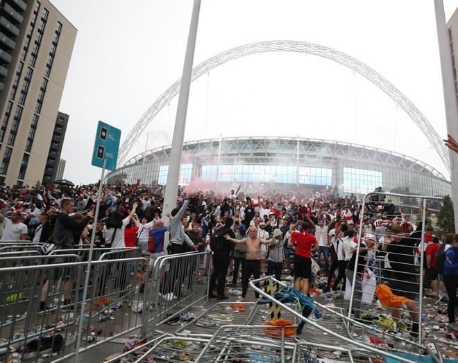 Los disturbios en la previa de la final de Wembley