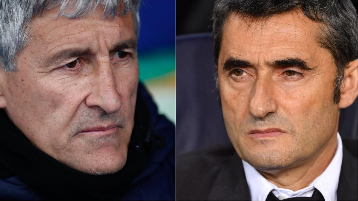Ernesto Valverde, destituido como técnico del Barça; Quique Setién, nuevo entrenador.