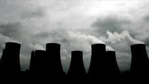 Emisiones contaminantes en la planta de carbón de Radcliffe, en el centro de Inglaterra.