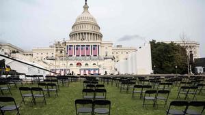 Preparativos para la ceremonia de inauguración del presidente electo Joe Biden en el Capitolio de los EE. UU.