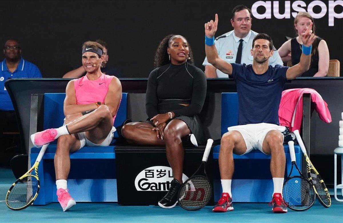 Crítiques a Nadal, Djokovic i Federer per no denunciar la contaminació que afecta l'Open d'Austràlia