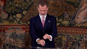 Felipe VI, el 6 de julio pasado, en un acto en el Tribunal Constitucional.