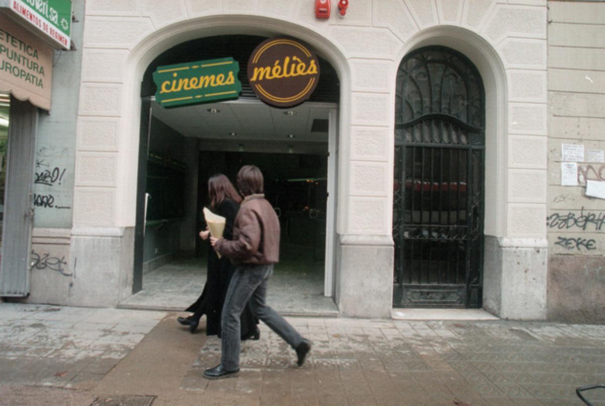 El cine Méliès de Barcelona antes del incendio.