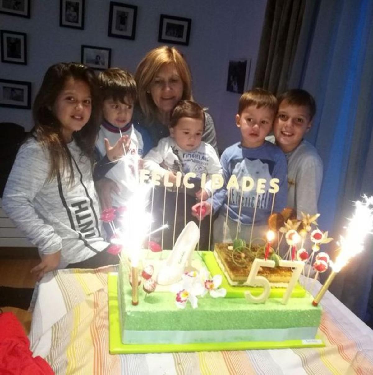 Messi celebra el cumpleaños de su madre en familia