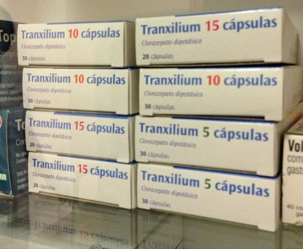 Varias cajas de Tranxilium.