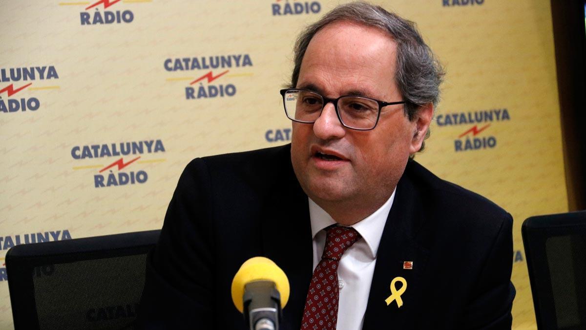 Declaraciones del 'president' de la Generalitat en Catalunya Ràdio. Quim Torra apuesta por una respuesta democrática sobre el derecho a la autodeterminación.