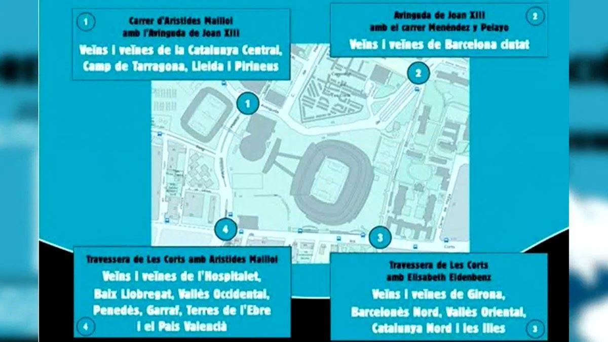 Tsunami Democràtic convoca una concentración ante el Camp Nou antes del Barça-Madrid.