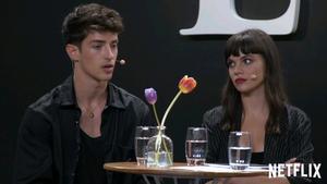 Manu Ríos, Martina Cariddi y Carla Díaz hablan de sus personajes en la nueva temporada de 'Élite'.