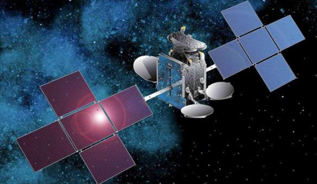 Imagen de un satélite de Hispasat.