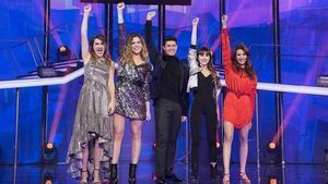 Los finalistas del talent 'OT2017', de TVE-1: Amaia, Miriam, Alfred, Aitana y Ana Guerra.