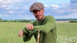 David Beckham, hace unos días en su retiro campestre.