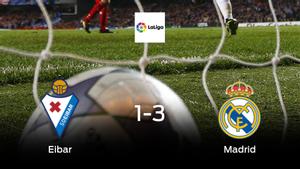 El Real Madrid suma tres puntos a su casillero frente al Eibar (1-3)
