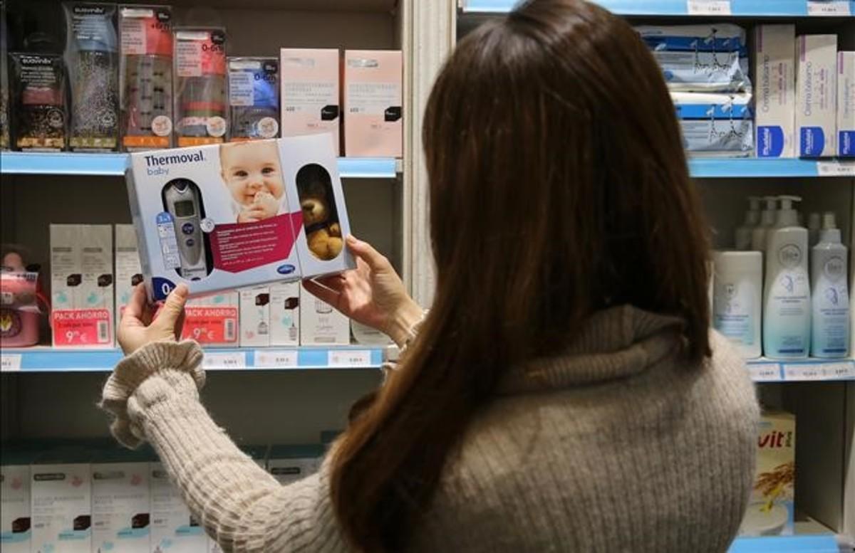 Carolina, hace unos días, en una tienda de Barcelona.