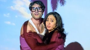 Yadier Fernández y Ginnette Gala en un momento de 'Fuera de juego'.