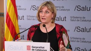 La 'consellera' de Salut de la Generalitat,Alba Vergés, en una rueda de prensa.