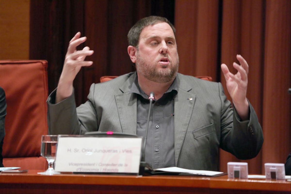 Comparecencia de Oriol Junqueras en la comisión de Economía.