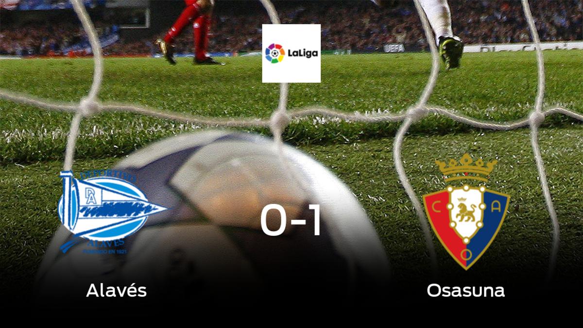 Osasuna deja sin sumar puntos al Alavés (0-1)