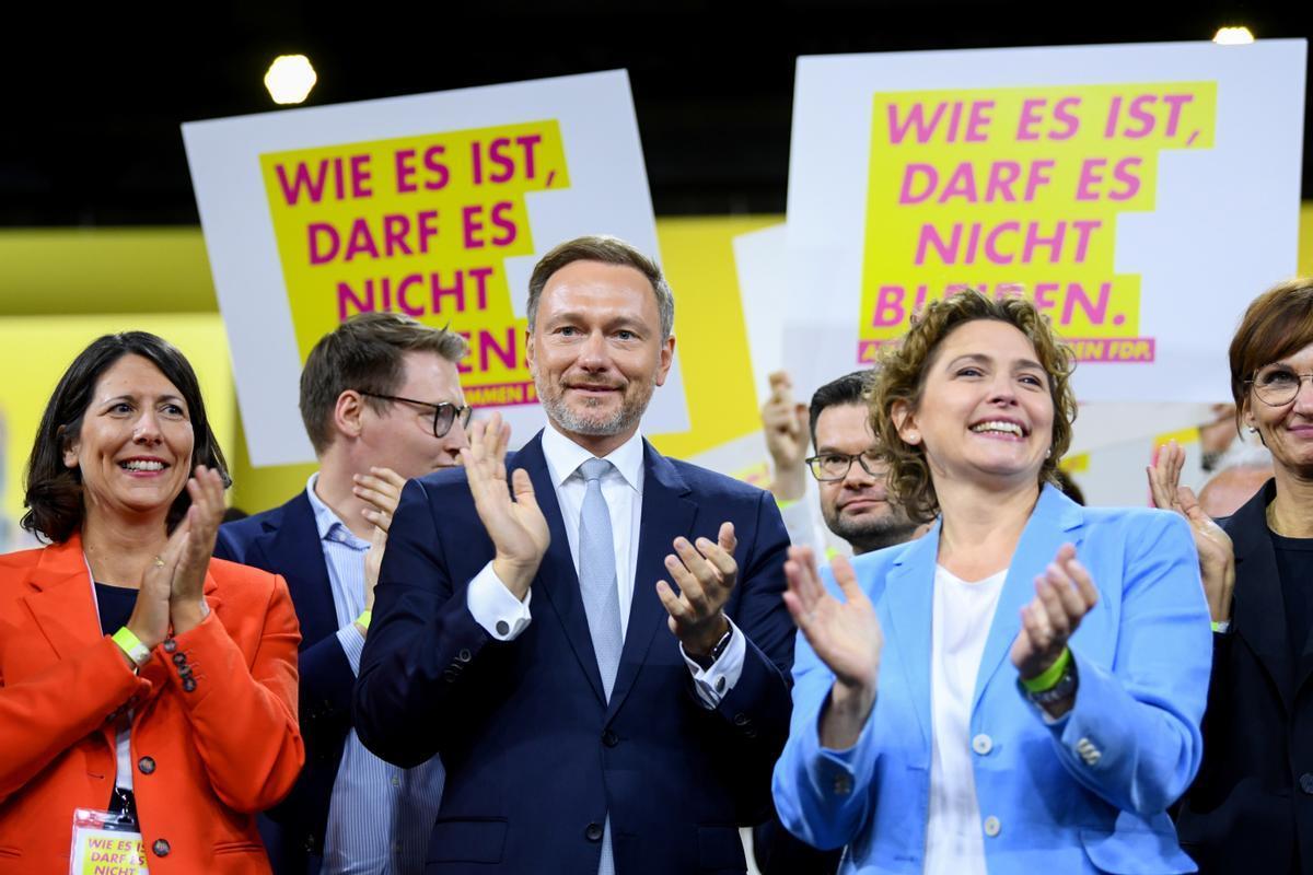 El líder del partido liberal FDP, Christian Lindner, durante la convención de su partido, celebrada el pasado fin de semana.
