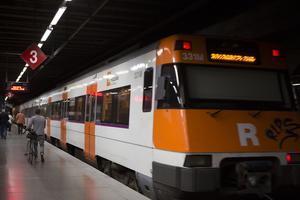 Un tren de Rodalies, en una imatged'arxiu.