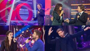 Algunas de las actuaciones de los especiales musicales de Raphael y Pablo Alborán en TVE.